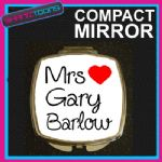 LOVE GARY BARLOW MRS COMPACT LADIES METAL HANDBAG GIFT MIRROR